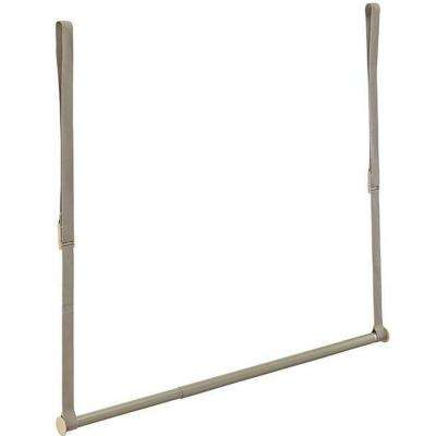 21 in. Double Hang Closet Rod in Nickel