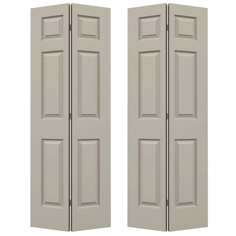 Charmant JELD WEN 72 In. X 80 In. Colonist Desert Sand Painted Smooth Molded