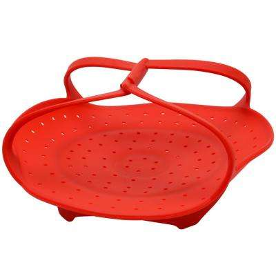 Dorton Silicone Red Steamer Basket
