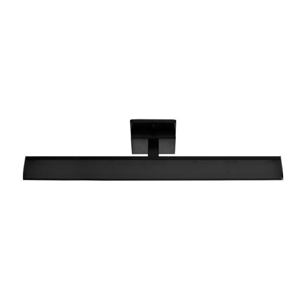 Tabiano 23.78 in. W Black Dimmable Integrated LED Vanity Light with White Shade