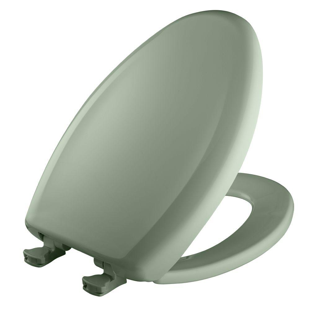 Slow Close STA-TITE Elongated Closed Front Toilet Seat in Aspen Green
