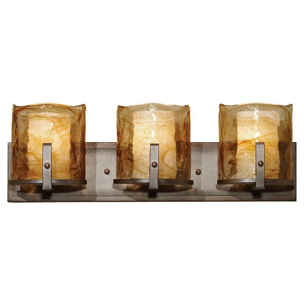 Feiss Aris 3-Light Roman Bronze Vanity Light