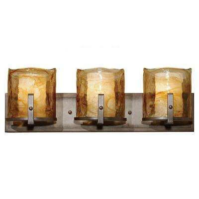 Aris 3-Light Roman Bronze Vanity Light