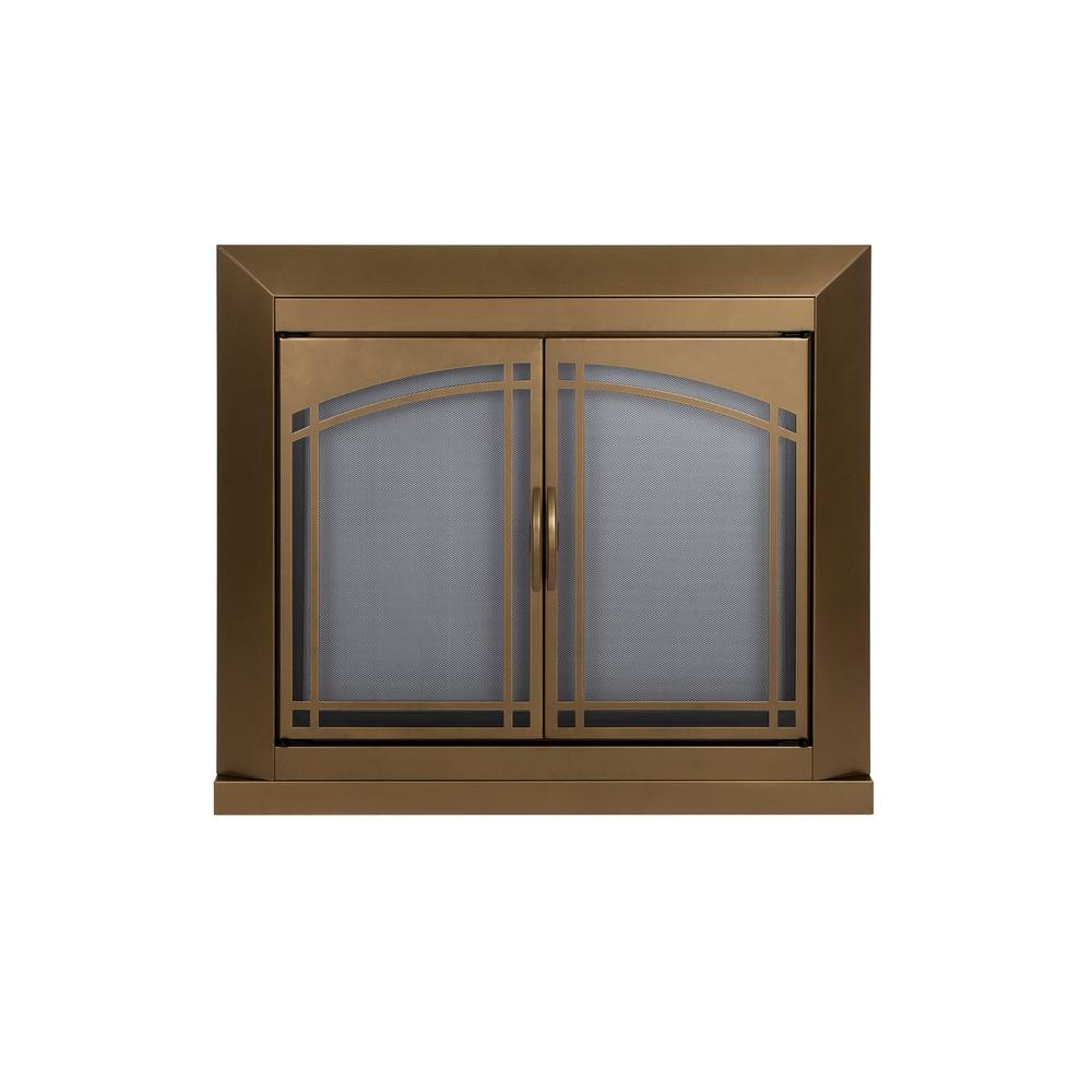 Fairmont Medium Glass Screen in Antique Bronze