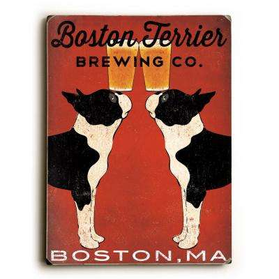 "9 in. x 12 in. ""Boston Terrier Brewing Co"" by Ryan Fowler Solid Wood Wall Art"