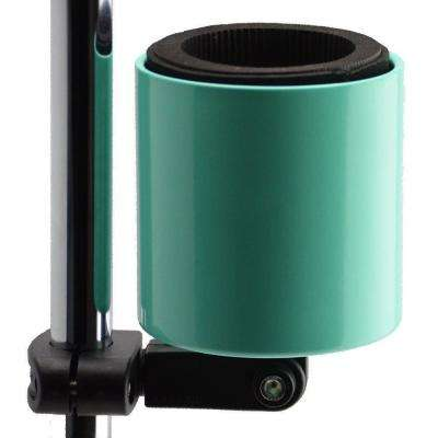 Kroozercups Deluxe Drink Holder Fits Bars 5/8 in. to 1-3/8 in. Any Angle with New Grip in Seafoam Green