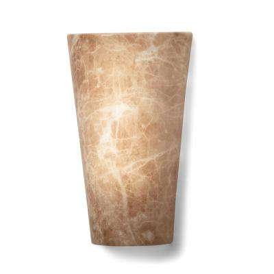 Vivid Series Sand Granite Brown High Gloss Wall Mounted Indoor/Outdoor Battery Operated 5 Integrated LED Sconce