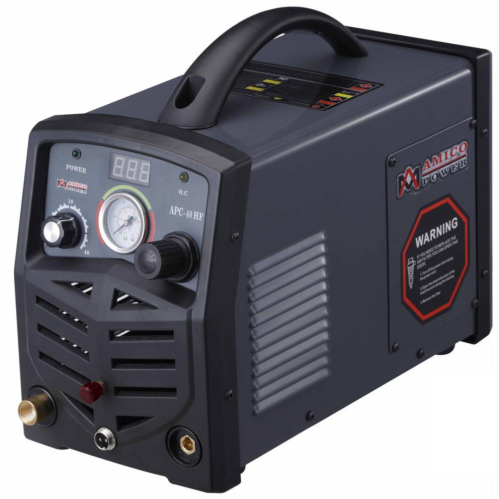 40 Amp 115-Volt/230-Volt Dual Voltage Non-Touch Pilot Arc Plasma Cutter, 1/2 in. Clean Cut Cutting Machine