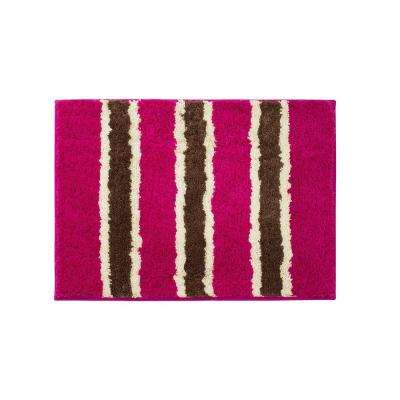 Ace Fuchsia 16 in. x 24 in. Bath Rug