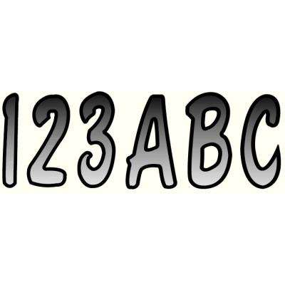 Series 200 Registration Kit, Cursive Font With Top to Bottom Color Gradations, Silver/Black