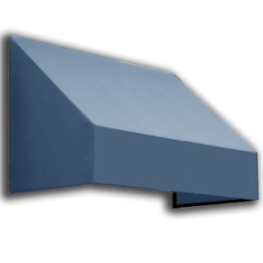 AWNTECH 16 ft. New Yorker Window Awning (44 in. H x 24 in. D) in Dusty Blue
