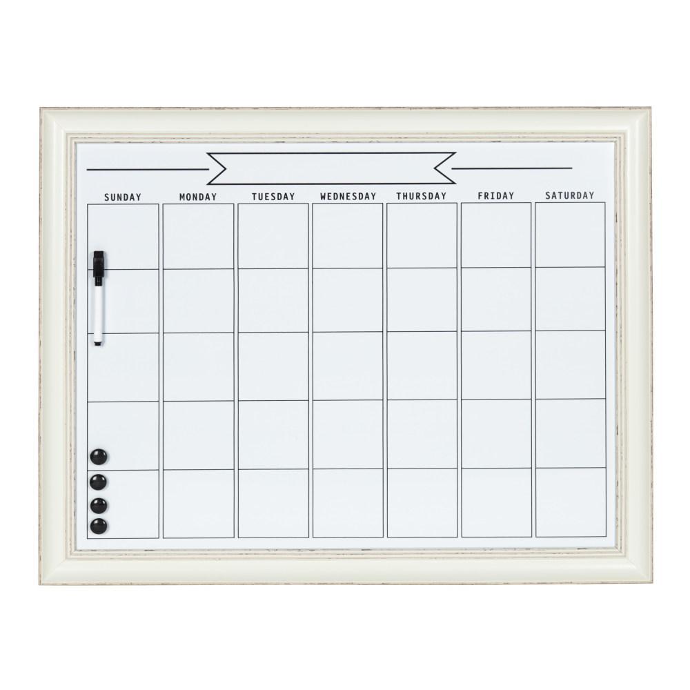 Macon Monthly Dry Erase Calendar Memo Board