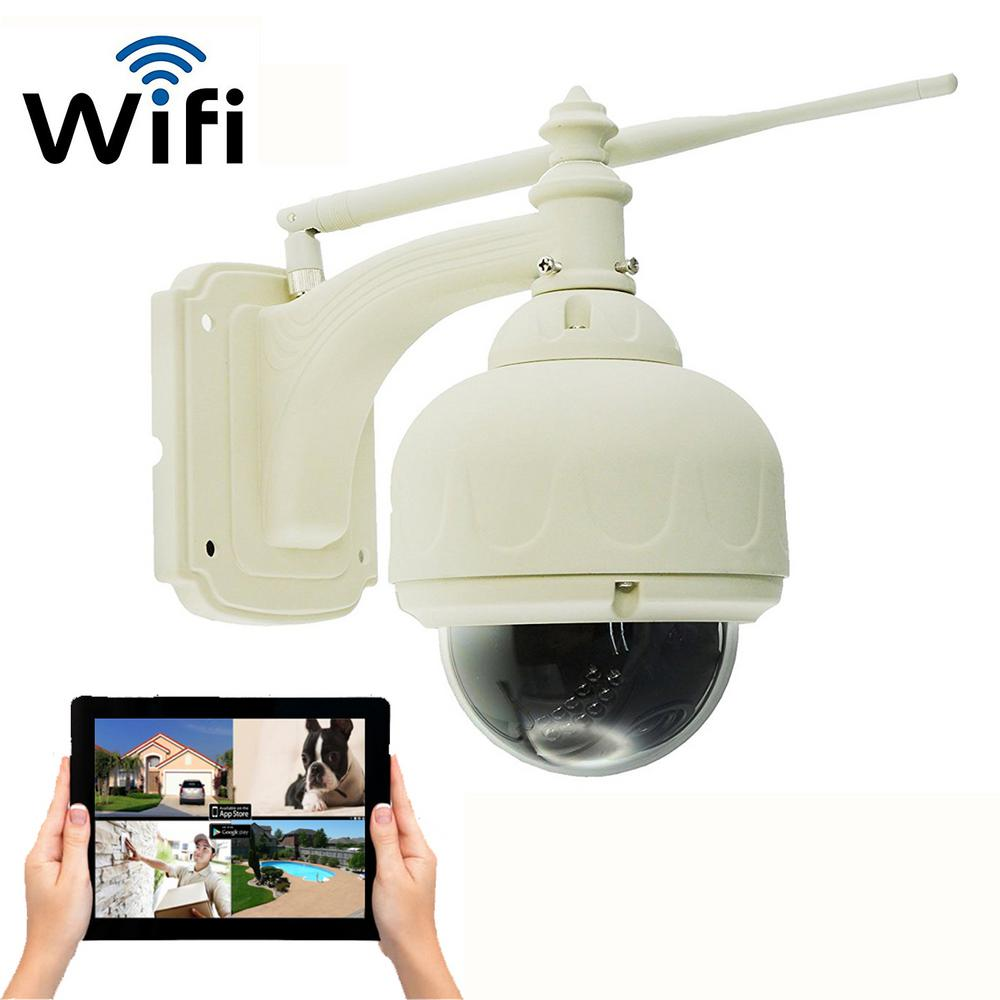 Wireless Outdoor HD 720p Wi-Fi Pan and Tilt Camera with N...