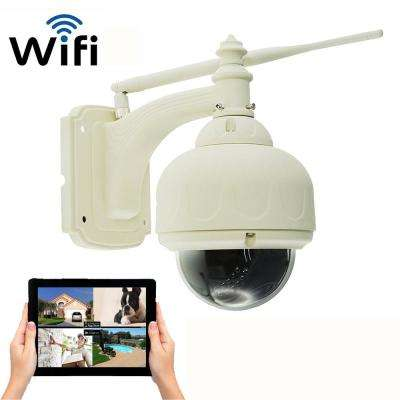 Wireless Outdoor HD 720p Wi-Fi Pan and Tilt Standard Surveillance Camera with Night Vision Free local recording