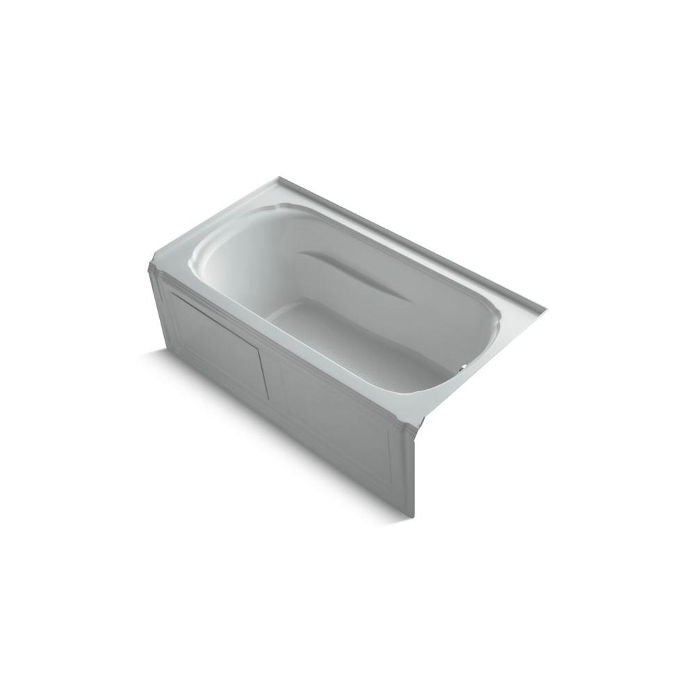 KOHLER Portrait 5 ft. Bathtub in Ice Grey