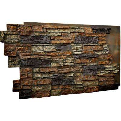 1-1/2 in. x 48 in. x 25 in. Redstone Urethane Stacked Stone Wall Panel