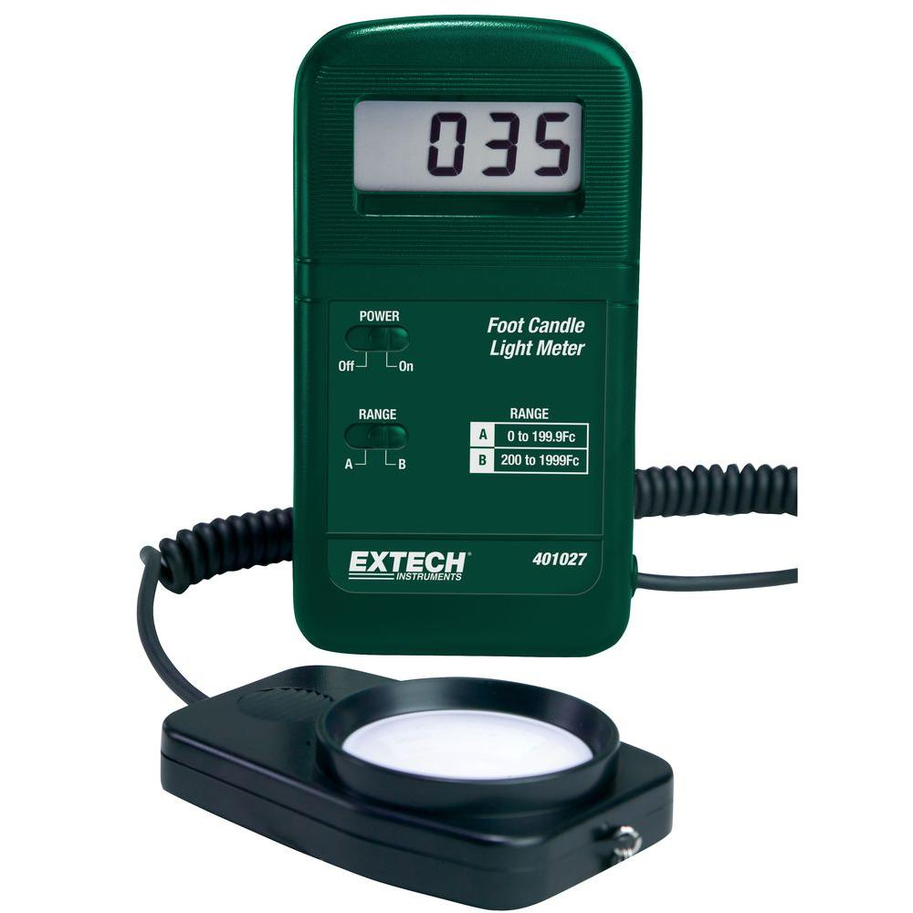 Light Measuring Instruments : Extech instruments pocket foot candle light meter