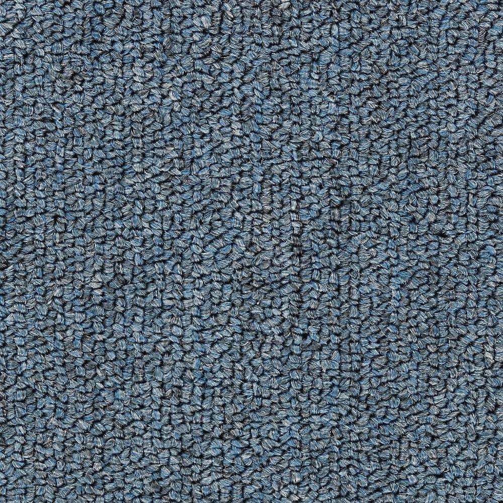 Bottom Line Base - Color Heirloom Blue 12 ft. Carpet