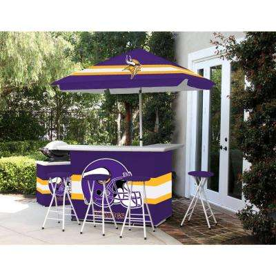 Minnesota Vikings 6-Piece All-Weather Patio Bar Set with 6 ft. Umbrella