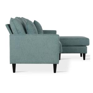 Phenomenal Dorel Living Henderson Teal Reversible Sectional Sofa With Ocoug Best Dining Table And Chair Ideas Images Ocougorg