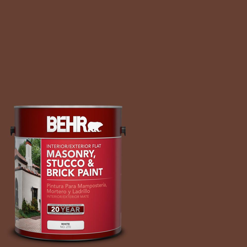 1 gal. #BXC-45 Classic Brown Flat Interior/Exterior Masonry, Stucco and Brick