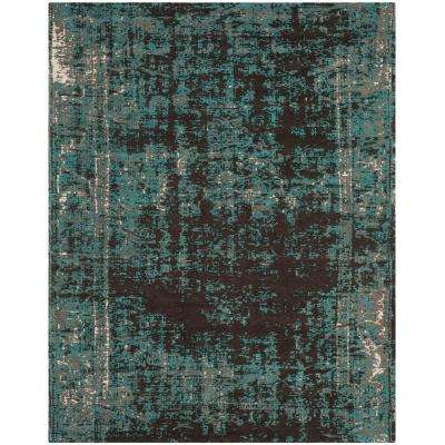 Classic Vintage Teal/Brown 8 ft. x 10 ft. Area Rug