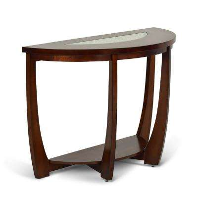 Rafael Merlot Cherry Sofa Table With Cracked Glass Inserts