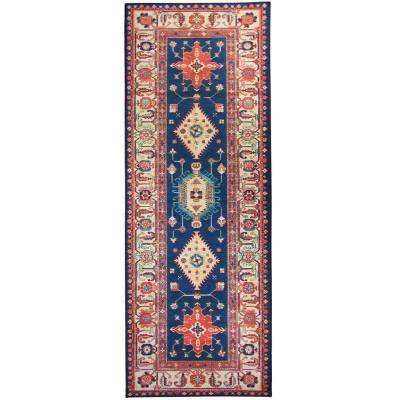 Washable Noor Sapphire 2.5 ft. x 7 ft. Stain Resistant Runner Rug