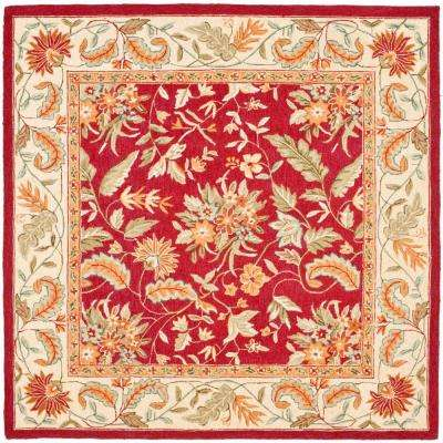 Chelsea Red 6 ft. x 6 ft. Square Area Rug