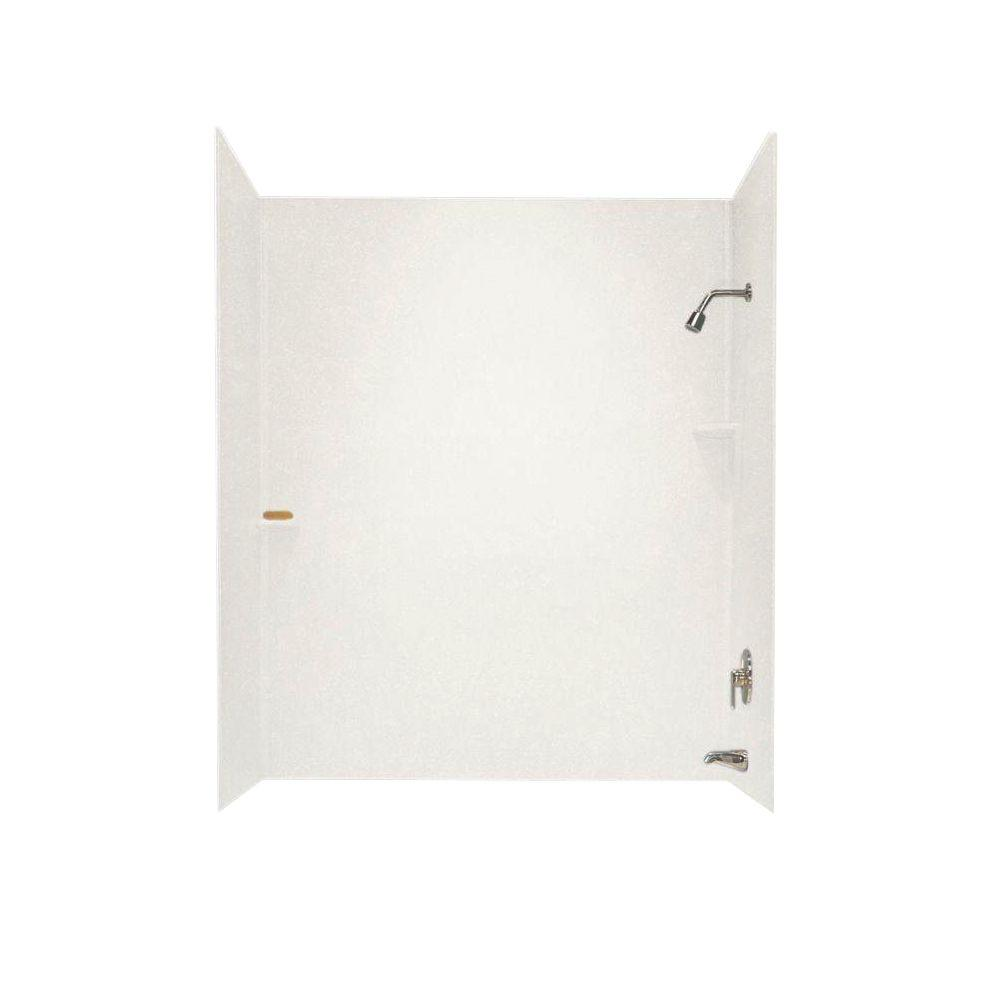 Swanstone Swan 30 in. x 60 in. x 60 in. 3-Piece Easy Up A...