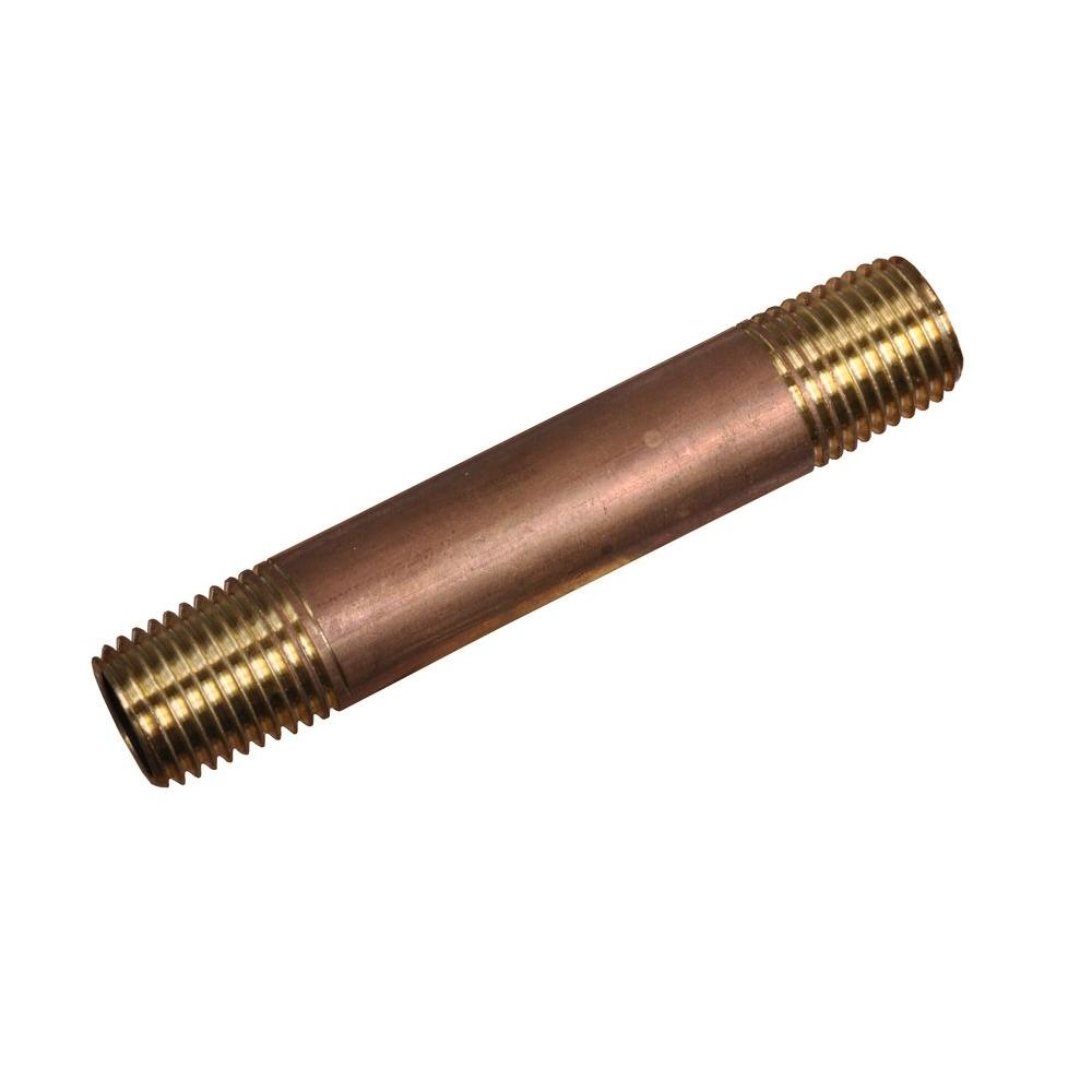 Cerro 1/2 in. x 4 in. Brass Pipe Nipple-DISCONTINUED