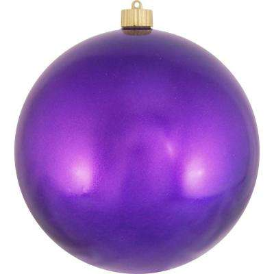 8 in. Vivacious Purple Shatterproof Ball Ornament (Pack of 6)