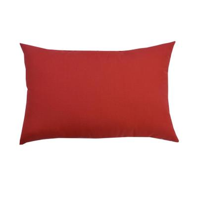 CushionGuard Ruby Lumbar Outdoor Throw Pillow (2-Pack)