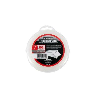 30 ft. Residential 0.105 in. Trimmer Line for Most Gas String Trimmers