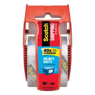 Scotch 1.88 in. x 22.2 yds. Heavy Duty Shipping Packaging Tape with Dispenser (Case of 12)