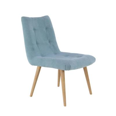 Gray Wood and Fabric Tufted Dining Chair