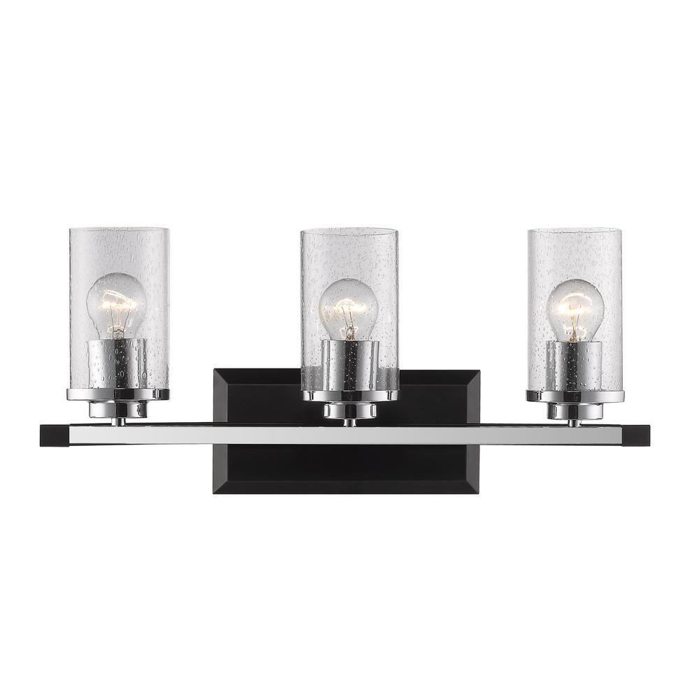 Mercer 3-Light Black Bath Light