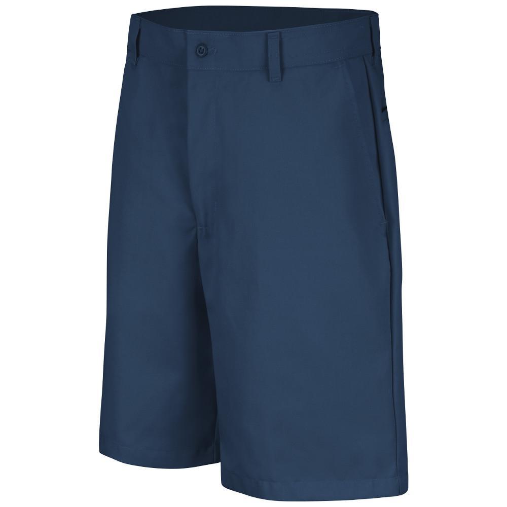Men's Size 28 in. x 10 in. Navy Plain Front Short
