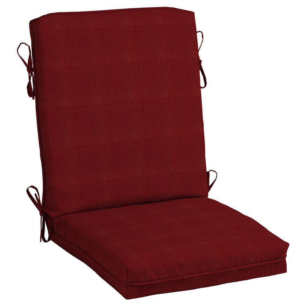 Hampton Bay Chili Outdoor Dining Chair Cushion Ff73336b