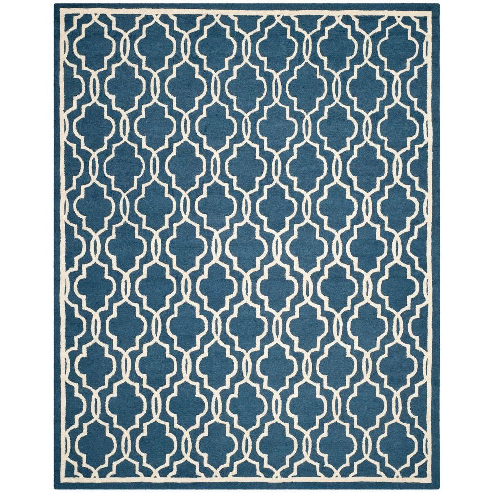Cambridge Navy/Ivory 8 ft. x 10 ft. Area Rug