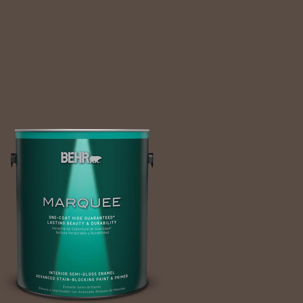 1 gal. #MQ2-39 Rare Wood One-Coat Hide Semi-Gloss Enamel Interior Paint