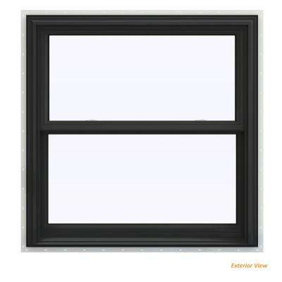 35.5 in. x 35.5 in. V-2500 Series Bronze Painted Vinyl Double Hung Window with BetterVue Mesh Screen