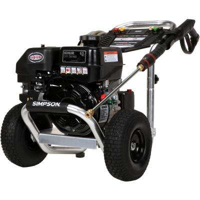 Aluminum 3300 PSI at 2.5 GPM KOHLER SH265 with AAA Triplex Plunger Pump Cold Water Pro Gas Pressure Washer