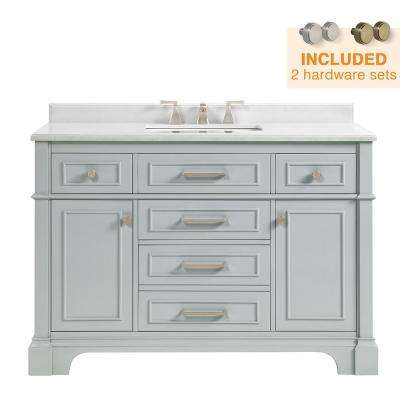 48 inch vanities gray bathroom vanities bath the home depot rh homedepot com