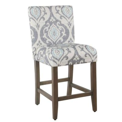 Parsons 24 in. Blue Bar Stool