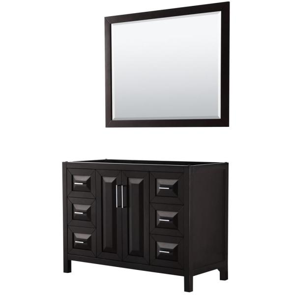 Daria 47 in. Single Bathroom Vanity Cabinet Only with 46 in. Mirror in Dark Espresso