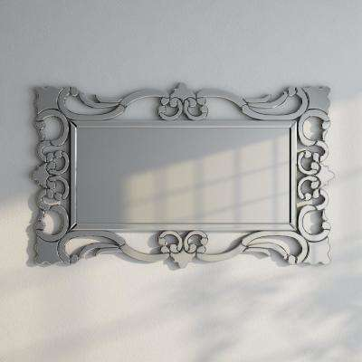47 in. x 29 in. Rebecca Mirrored Scroll Mirror
