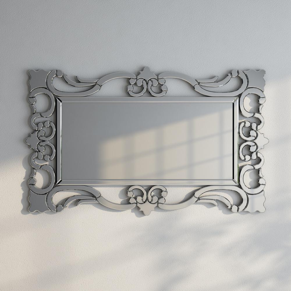 47 in. x 29 in. Rebecca Mirrored Scroll Mirror