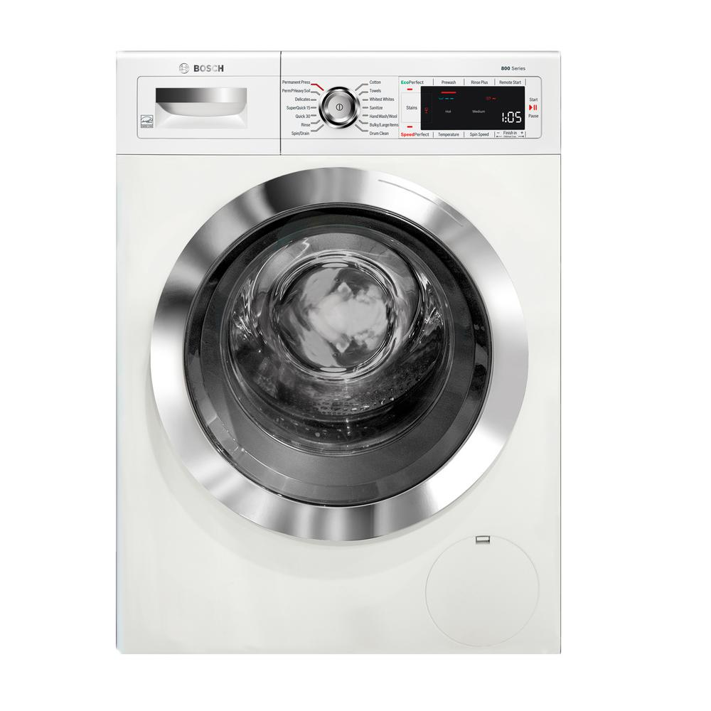 Bosch 800 Series 24 in. 4 cu. ft. White Chrome Accents and Home