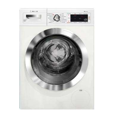 800 Series 24 in. 4 cu. ft. White Chrome Accents and Home Connect Electric Condensation Compact Dryer